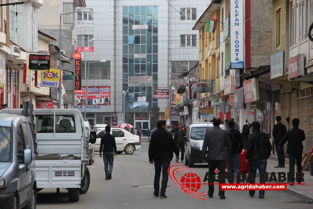 Ağrı'da Kobani Protestosu