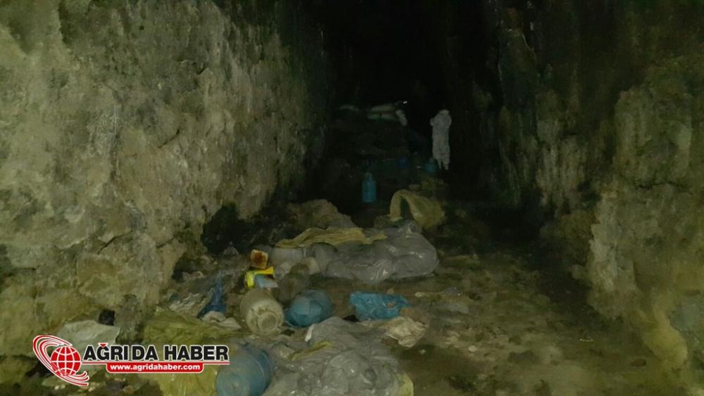 Ağrı Tendürek'te PKK Darbe 2 Mağara Dolusu Mühimmat İmha Edildi