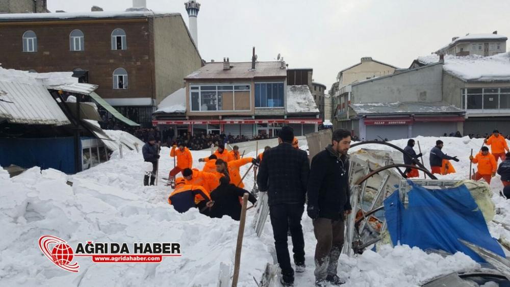 Ağrı Sebze Pazarının Çatısı Çöktü: Çok Sayıda Yaralılar Var!