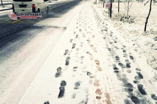 Ağrı Kar Yağışı Manzara Resimleri