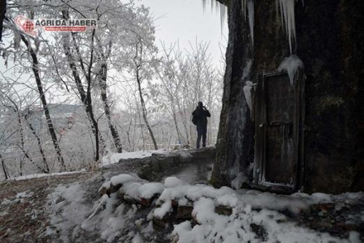 Ağrı'da Eksi 21 Derecede Kış Manzaraları