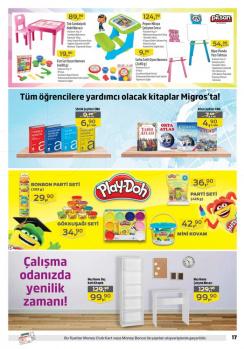 Migros 1-12 Eylül Okul Ürünleri İndirim Kampanyası Kataloğu