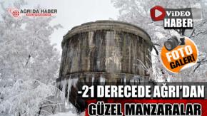 Ağrı#039;da Eksi 21 Derecede Kış Manzaraları