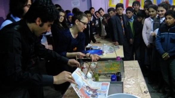 Taşlıçay'da Ebru Sanatı Eğitimi