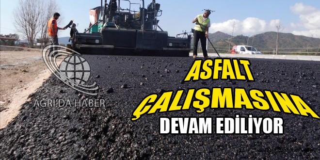 Ağrı Erzurum Karayolunda Asfalt Çalışması Devam Ediyor.