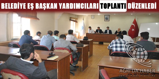 Belediye Eş Başkan Yardımcıları Toplantı Düzenledi