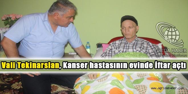 Tekinarslan, Kanser hastasının evinde iftar açtı