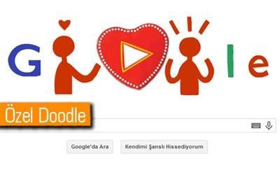Google'dan Sevgililer Günü Doodle'ı