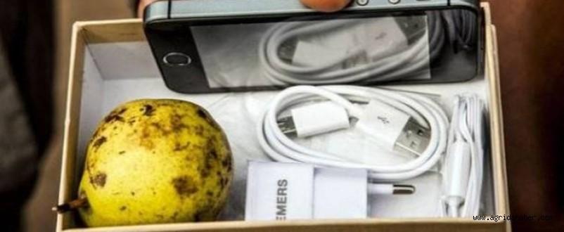 Telefon Siparişi Verdi, Kutudan Armut Çıktı