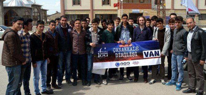 Vanlı öğrenciler Çanakkale'deki şehitlerini anacaklar