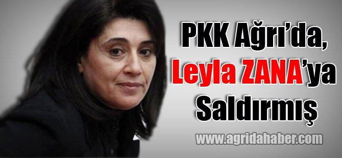 PKK Ağrı'da, Leyla Zana'ya Saldırmış