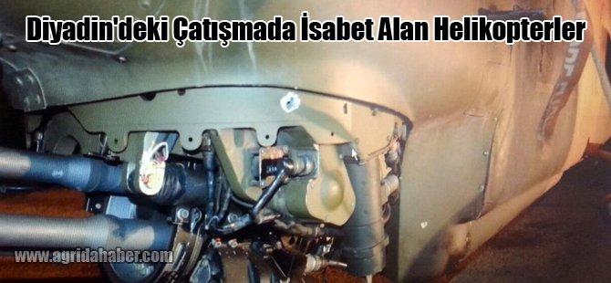 Diyadin'deki Çatışmada İsabet Alan Helikopterler