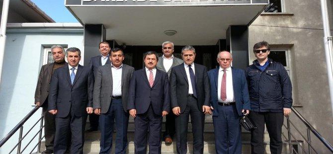 Büyükşehir Belediyesi heyeti Darende'de incelemelerde bulundu