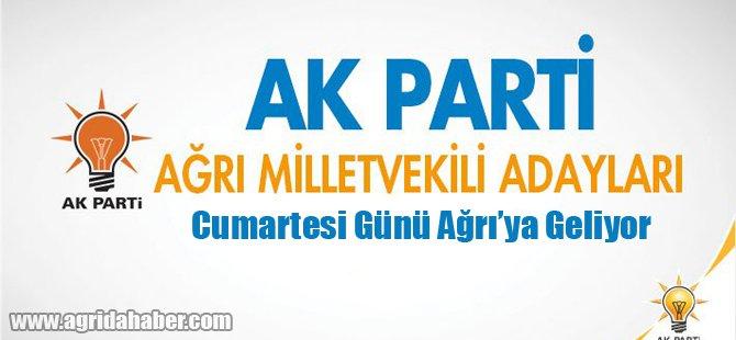 Ak Parti Adayları Cumartesi Günü Ağrı'da