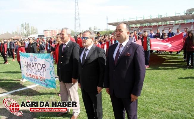 Ağrı'da 'Amatör Spor Haftası' Etkinlikleri
