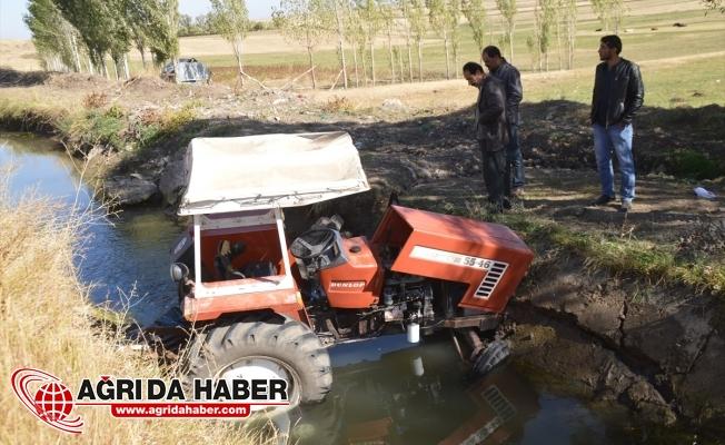 Eleşkirt Süzgeçli Köyünde Traktör dereye uçtu: 1 Ölü 1 Yaralı