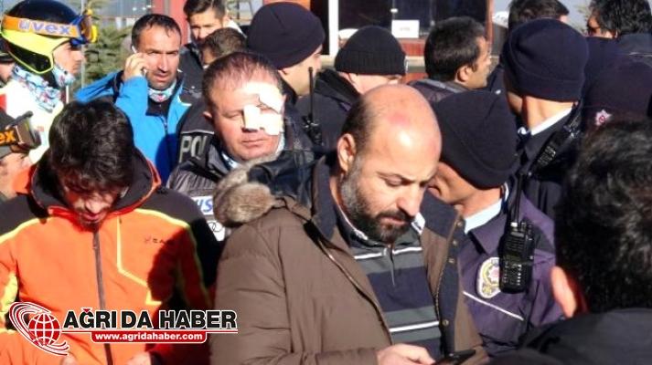 Erzurum'da Milli Takım Kayak Seçmelerinde Kavga