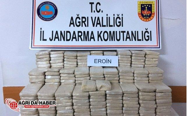 Ağrı'da 212 Kilo Eroin Ele Geçirildi! Zehir Tacirlerine Geçit Yok!