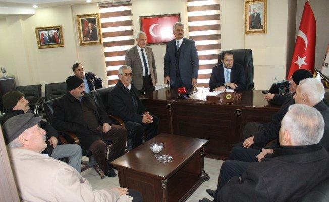 AK Parti İl Başkanı Gür'e ziyaretler devam ediyor