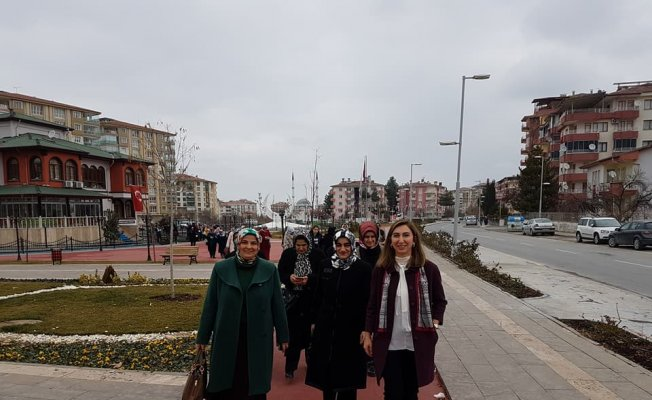 AK Partili kadınlar Yeşilyurt'taki yatırımları inceledi