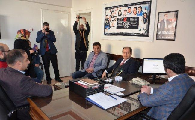 Baro Başkanı Enver Han CHP İl Başkanı Kiraz ziyaretti