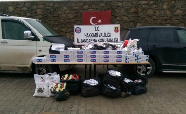 Çukurca'da kaçakçılık operasyonu