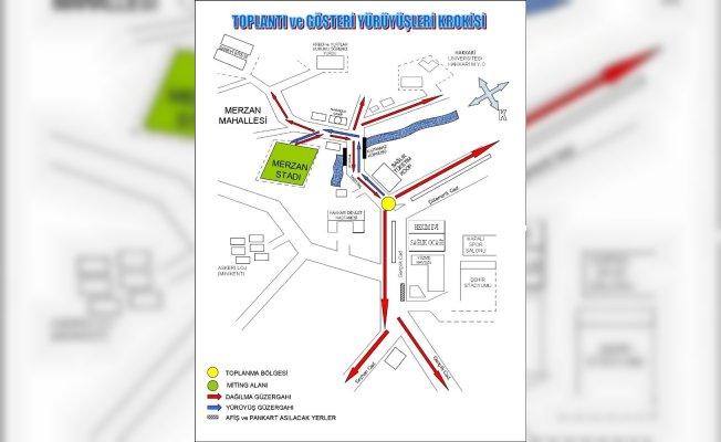 Hakkari'de miting, yürüyüş ve yasak yerler açıklandı