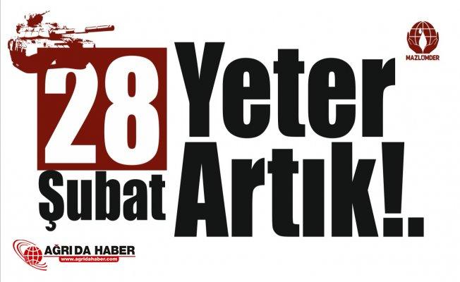 """MAZLUMDER: """"28 Şubat Yargı Kararları İptal Edilsin!"""""""