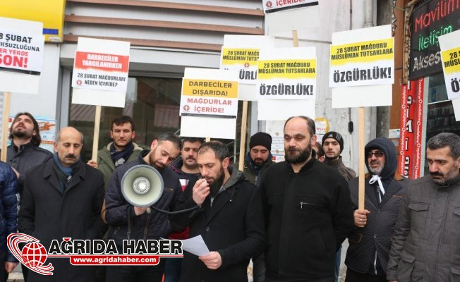 Mazlumder Ağrı Şubesinden 28 Şubat Protestosu