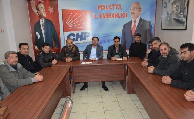 Taşeron işçiler CHP İl Başkanı Kiraz'dan destek istedi