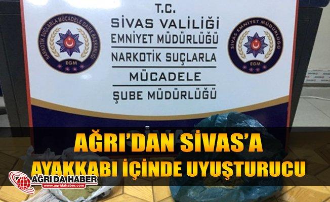 Ağrı'dan Sivas'a giden uyuşturucu yol kontrolüne takıldı