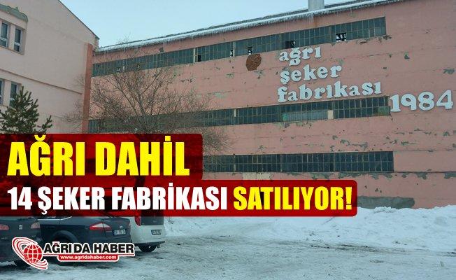 Ağrı dahil 14 Şeker Fabrikası Satışa Çıkıyor!