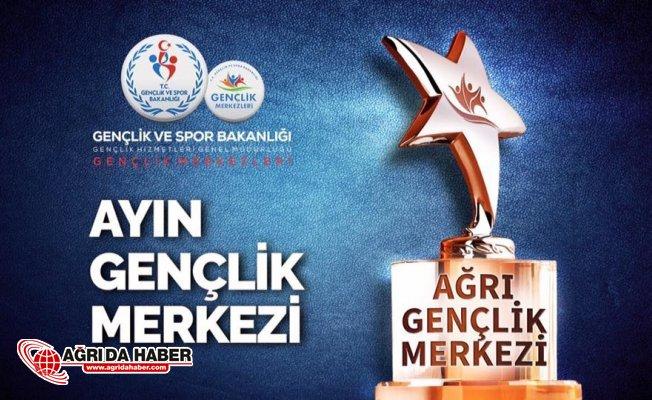 Ağrı Gençlik Merkezi Türkiye'de Ayın Gençlik Merkezi Seçildi