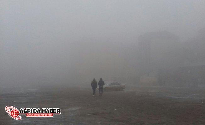 Ağrı'da soğuk hava ve yoğun sis
