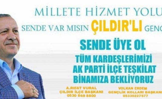 AK Parti Çıldır Gençlik Kollarından üye kampanyası