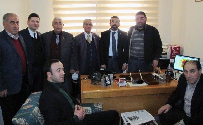 AK Parti'den Kars Kuzey Doğu Gazeteciler Cemiyeti'ne ziyaret