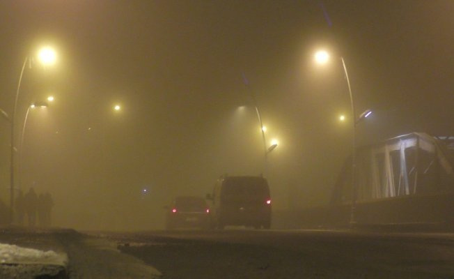 Ardahan'da soğuk hava ve sis etkili oluyor