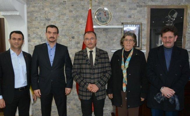 Ardahan'da uyuşturucu ile mücadele derneğinden Başkan Köksoy'a ziyaret