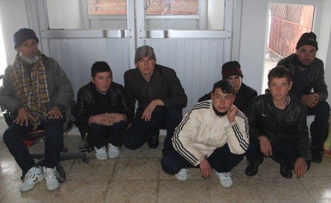 Van Başkale'de 7 kaçak göçmen yakalandı