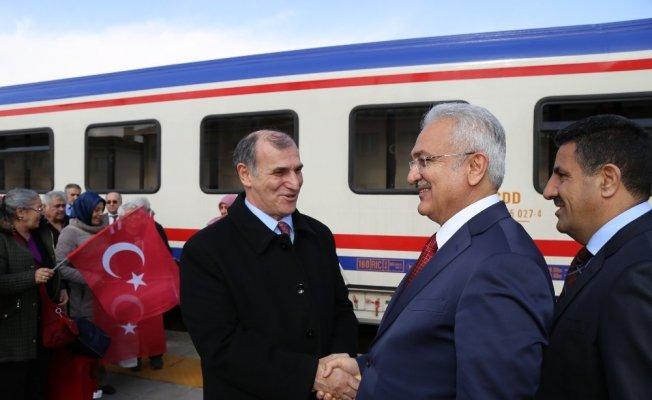 Doğu Ekspresi ile Erzincan'a geldiler