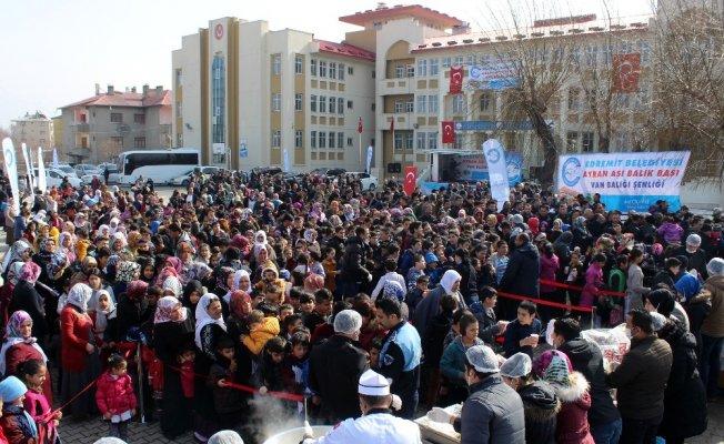 Edremit'te '2. Geleneksel Ayran Aşı Balık Başı' festivali