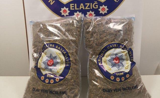 Elazığ'da Narkotik Operasyonu: 6 kilo 250 gram Esrar ele geçirildi