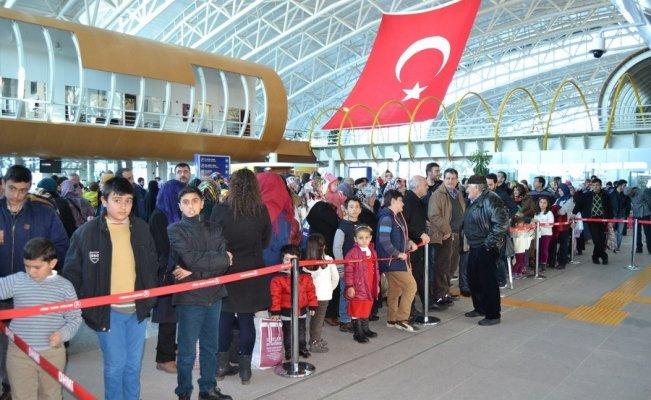 Erzincan Havalimanı'nda Ocak ayında binlerce yolcuya hizmet verildi
