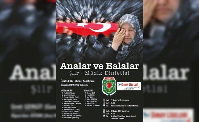 """Erzurum'da """"Analar ve Balalar"""" isimli şiir ve müzik dinletisi"""