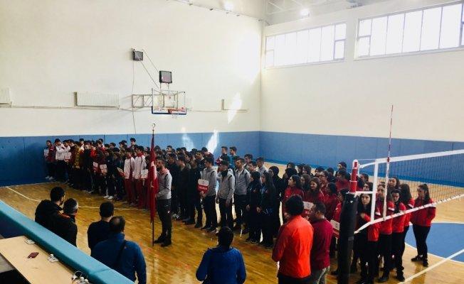 Erzurum'da voleybol heyecanı