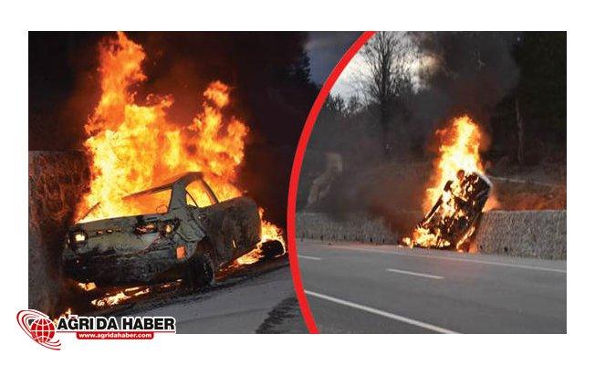 Feci Kaza Araç Bir Anda Alev Aldı : 5 Ölü