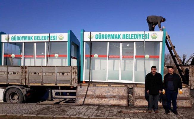 Bitlis'te 'Klimalı Durak'lar yenilendi