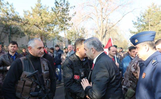 Kayseri PÖH'leri Afrin'e dualarla yolcu etti