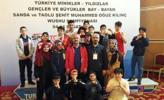 Malatyalı sporcular Wushu şampiyonasından dereceyle döndü