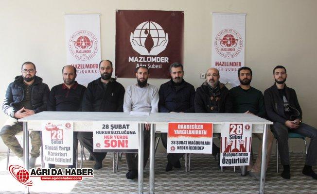"""Mazlumder Ağrı: """"28 Şubat Zulmüne Son Verin"""""""
